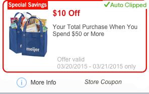 Meijer 10 off $50 mperk offer