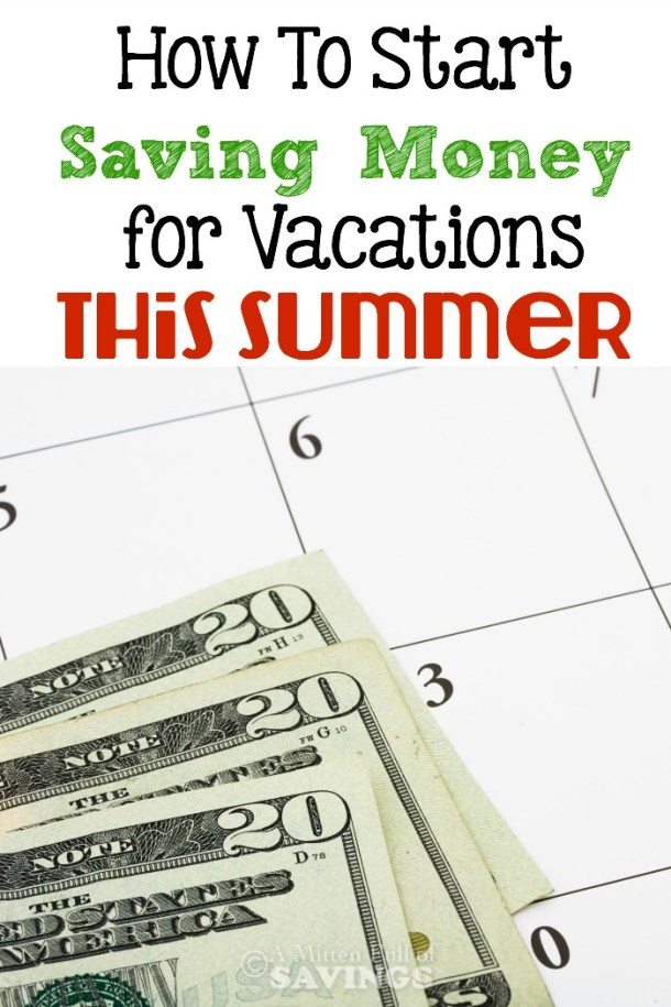 Start saving NOW for your summer vacation or road trips with these easy savings tips! Get tips here- How To Start Saving Money for Vacations This Summer