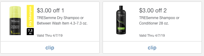 TRESemme mPerk offers