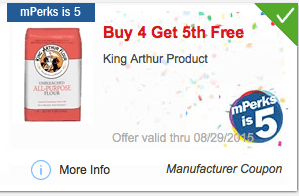 image relating to King Arthur Flour Printable Coupon named Meijer mPerk: King Arthur Flour Accurately $1.32