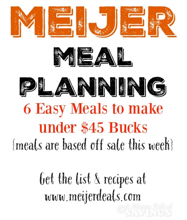 Meijer Meal Planning