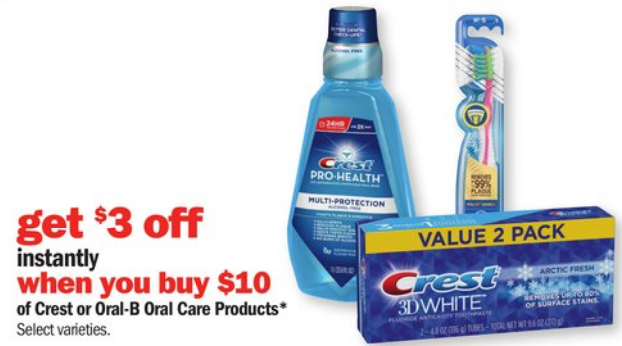 Meijer: GREAT Deals on Oral B + Crest Products This Week