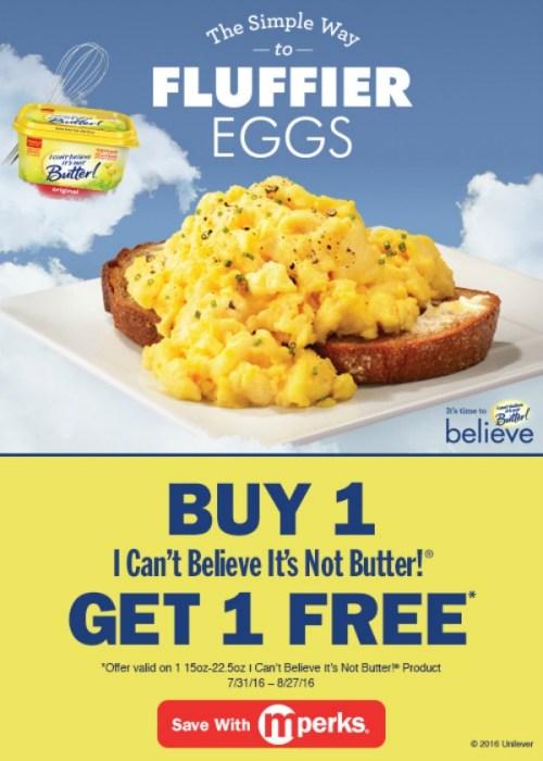 I can't believe it's not butter mperk offer