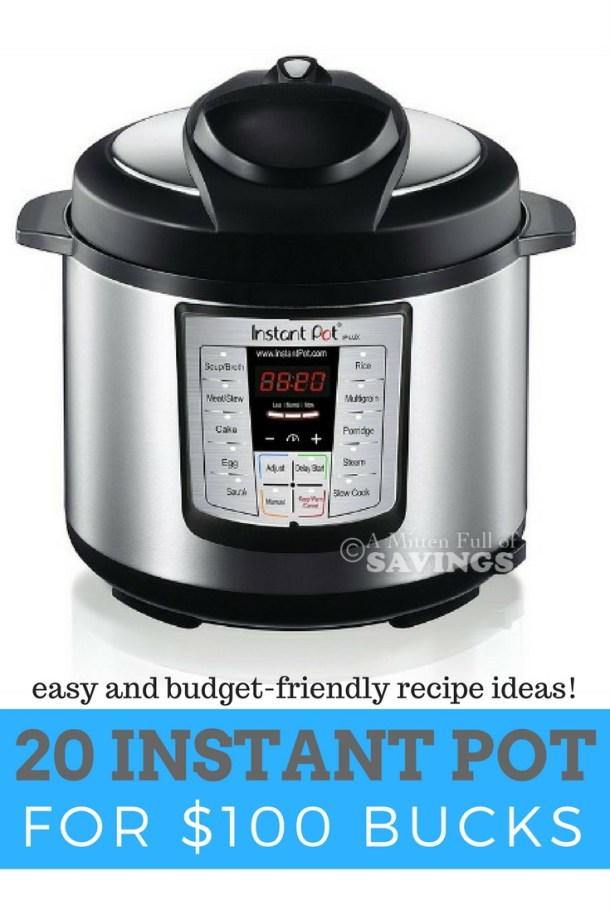 Save time and money with our budget-friendly instant pot recipe ideas for under $100.00 These easy slow cooker recipes converted into instant pot recipes will help you save time on meal prep and money!