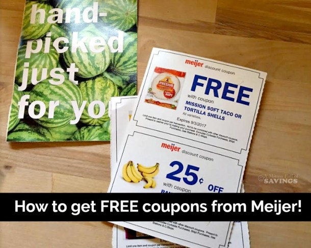 How To Get FREE Coupons From Meijer!