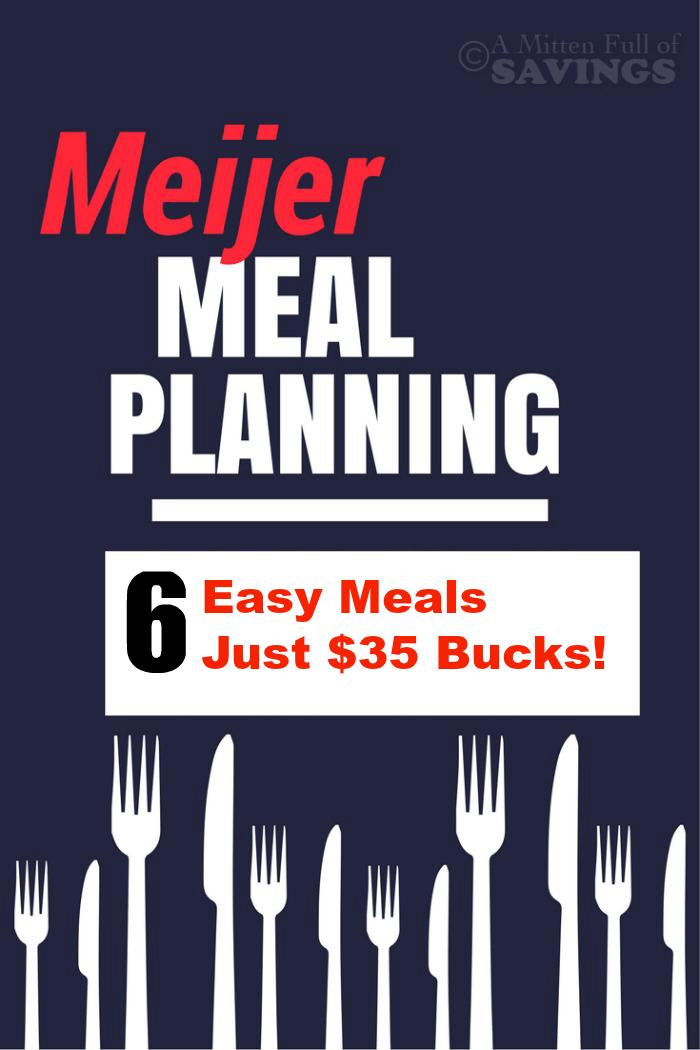 Easy Meals Just $35 Bucks!