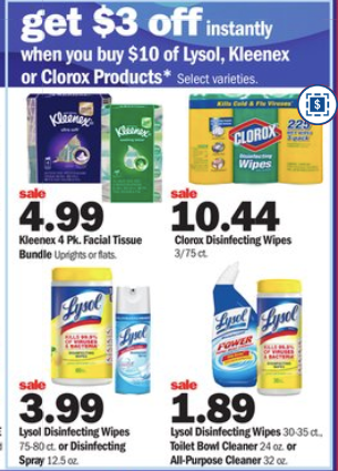 Lysol deals at Meijer