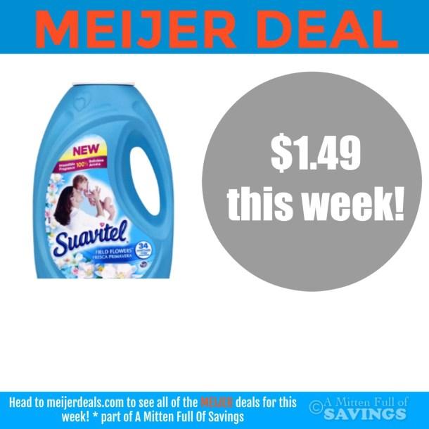 Deal on Suavitel Fabric Softener at Meijer- $1.49