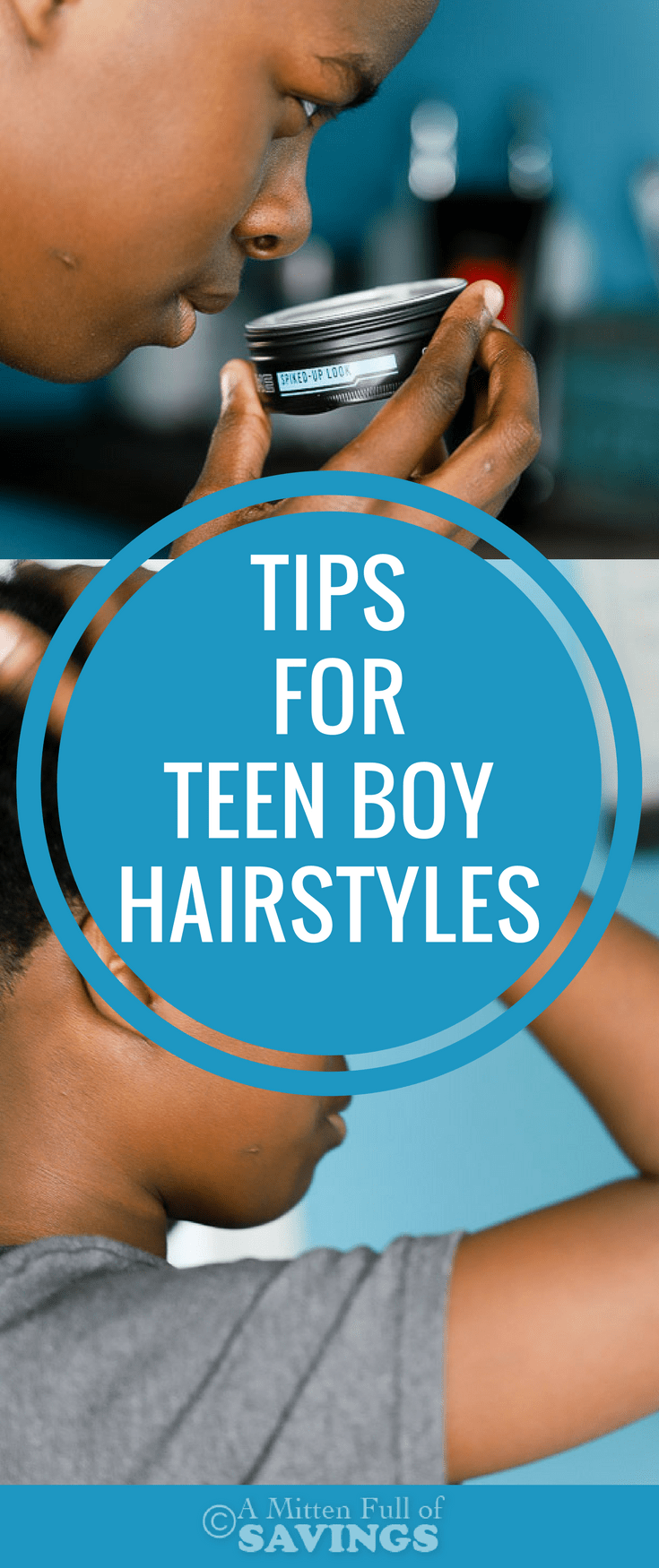 Teen boys are totally into their hair! I'm sharing some of my mom tips on dealing with teen boy hairstyles.