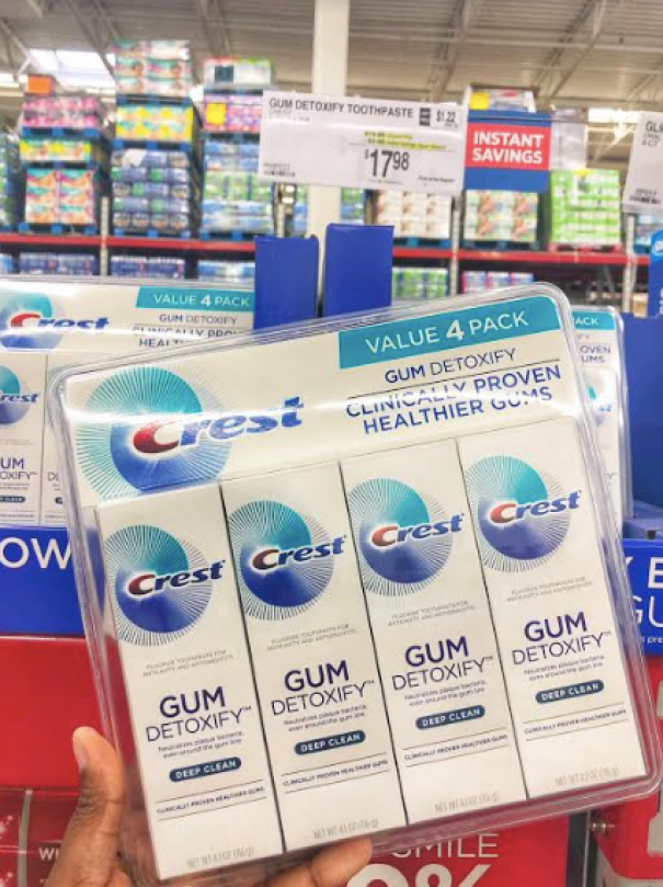 Crest Toothpaste deal at Sam's Club