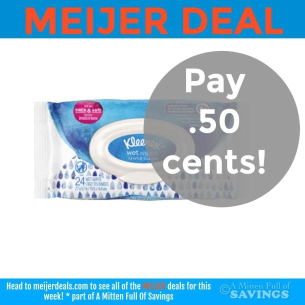 Meijer: Grab Kleenex Wet Wipes .50 cents