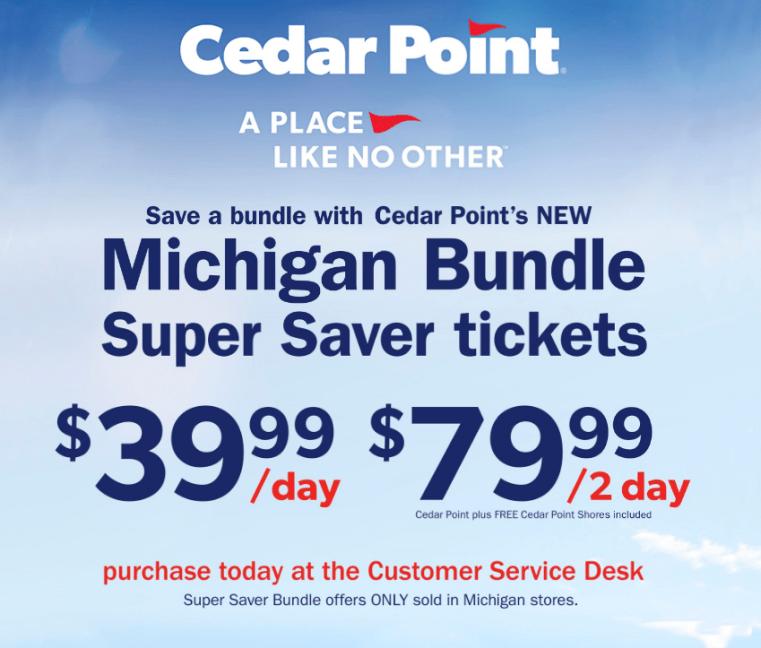 Cedar Point deals at Meijer
