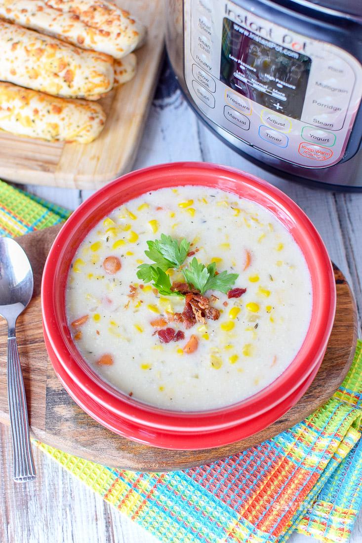 Instant Pot Corn Chowder Soup Recipe