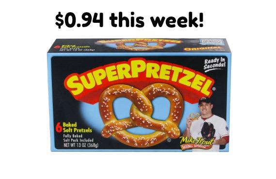 Meijer Deal: Super Pretzel BOGO Deal- $0.94 this week