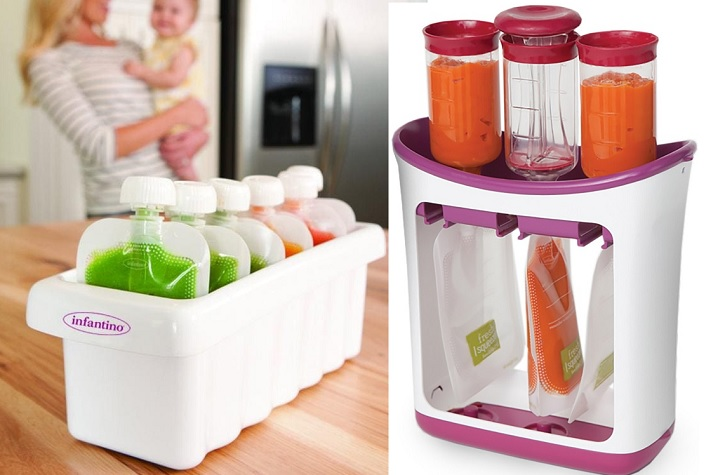 Baby Food Maker Fill Station Makes 4 Squeeze Babyfood Pouches At A Time