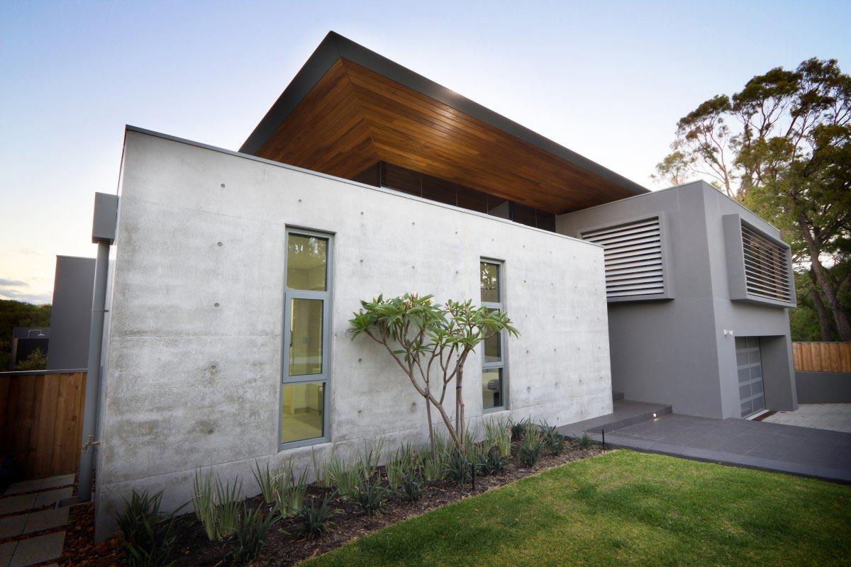 Exposed Concrete Walls, The 24 House in Dunsborough, Australia