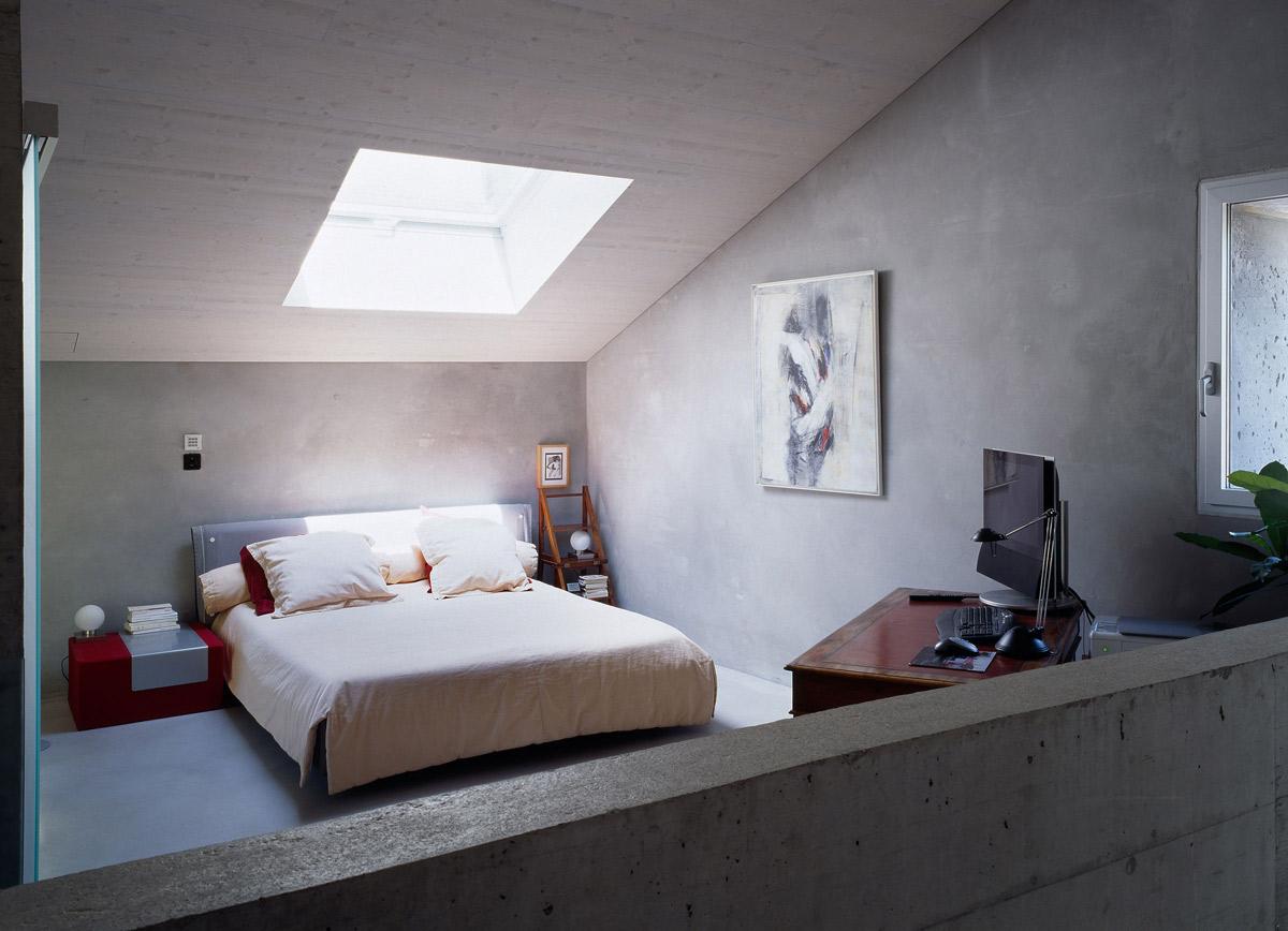 Bedroom, Home Office, Renovation in Chamoson, Switzerland by Savioz Fabrizzi Architecte