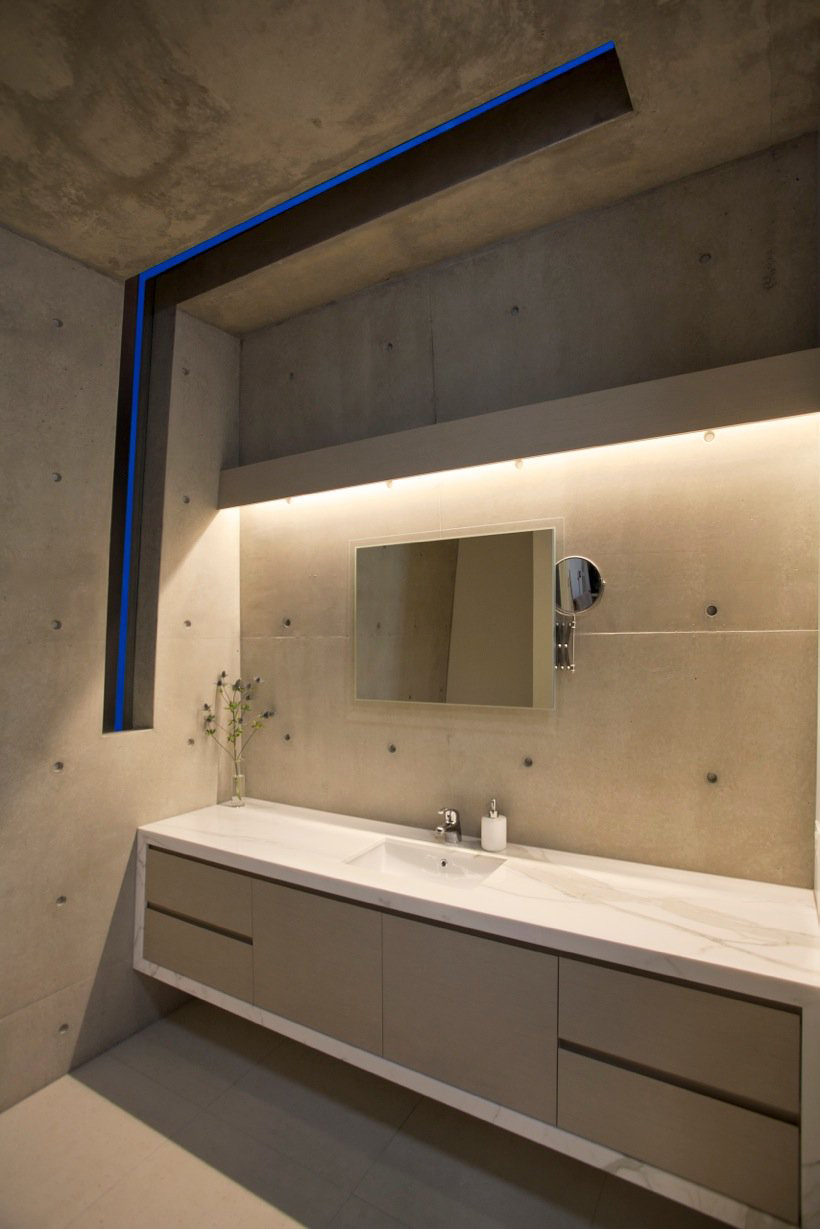 Bathroom, Lighting, Coolum Bays Beach House in Queensland, Australia