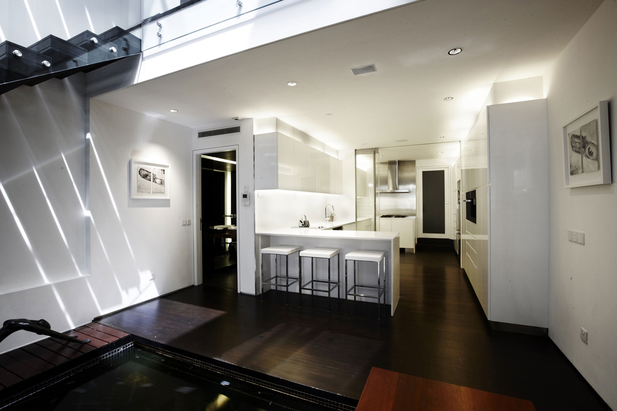 Bright White Kitchen Shop House Renovation In Singapore