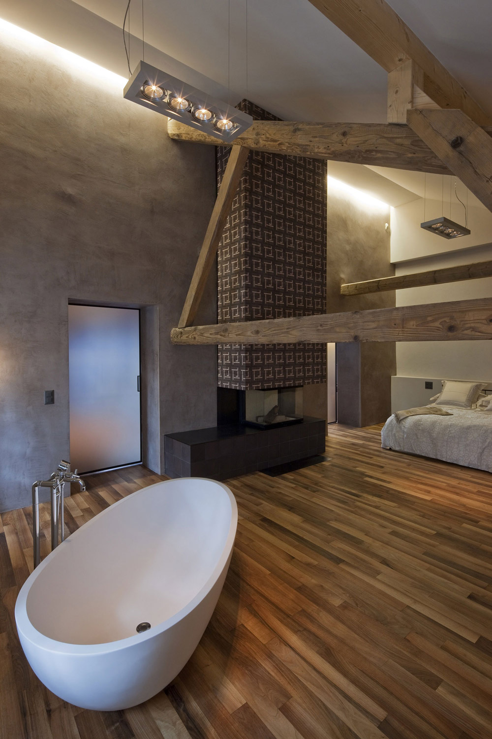 Bath In Bedroom Modern Fireplace Farmhouse Conversion In Genf Switzerland Fresh Palace