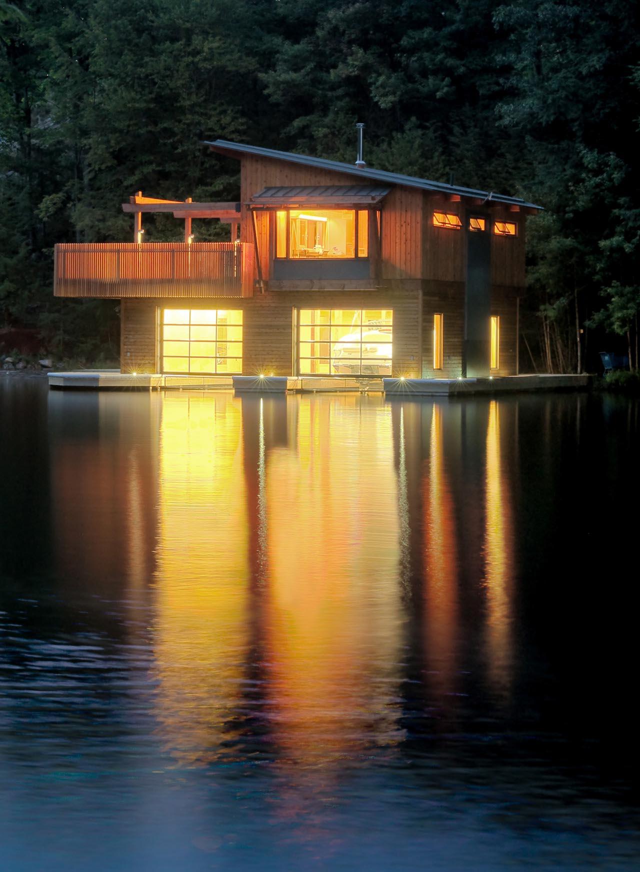 Boathouse Renovation And Extension In Muskoka Lakes Ontario