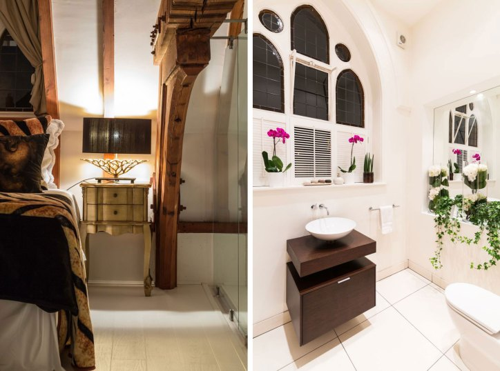 Converted Churches Gianna Camilotti The Church Conversion London Interior Guest Bedroom Bedside Powder Room Bathroom