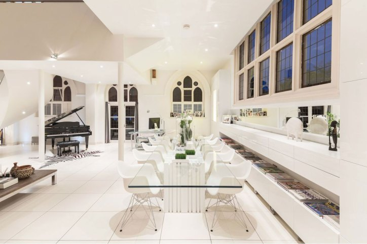 Converted Churches Gianna Camilotti The Church Conversion London Interior Dining Room Area