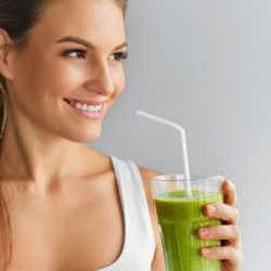 image of woman drink detox drink