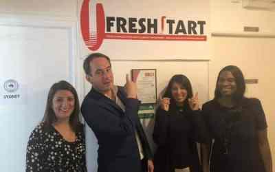 Mr Bessac, maire de Montreuil rend visite à Freshstart