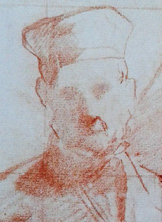 Detail of a Manet drawing