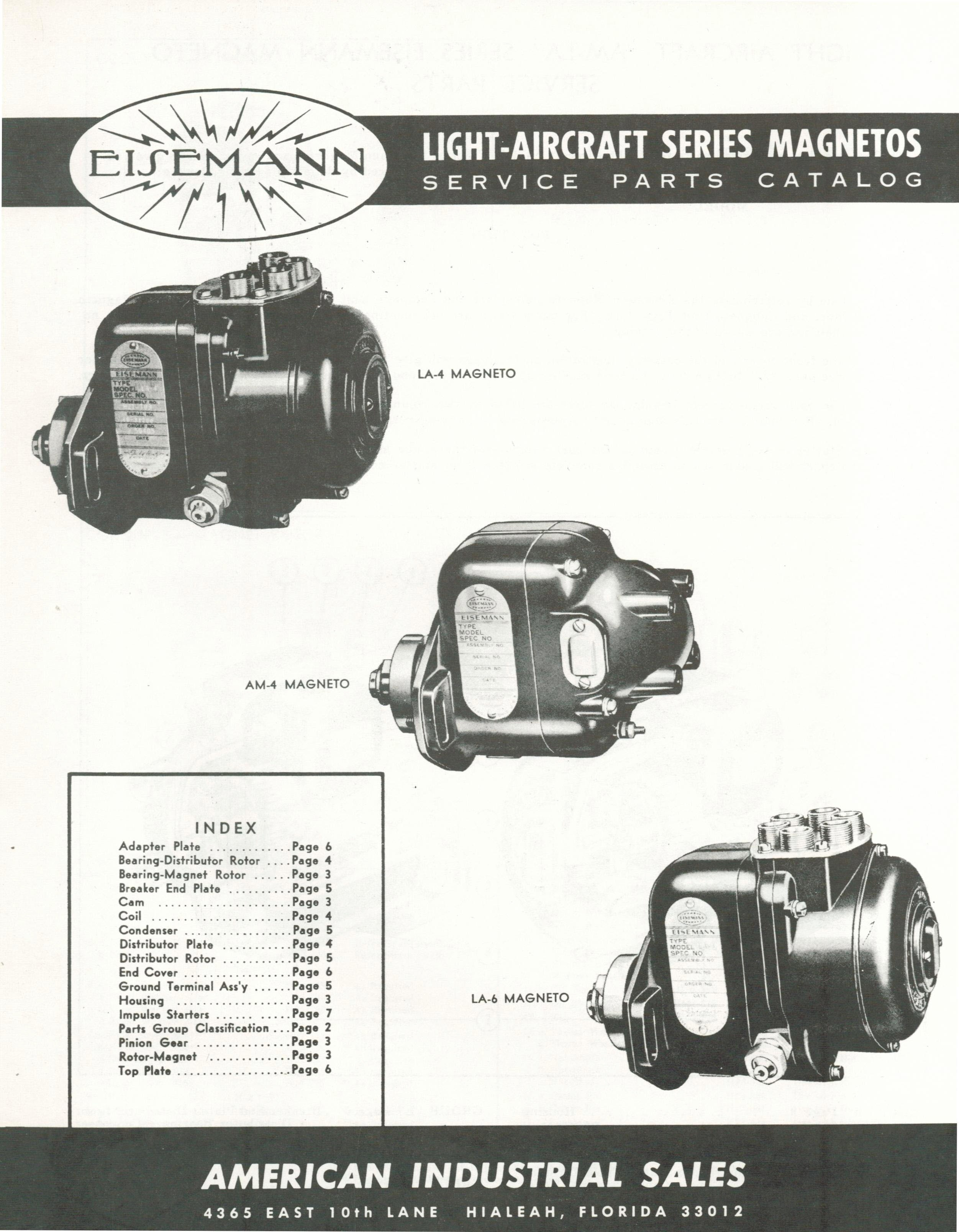 4032 Manual, Eisemann Magneto Parts - Fresno Airparts Co