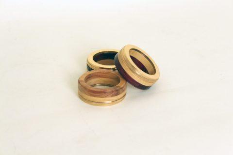 Argola guardanapo madeiras/metais
