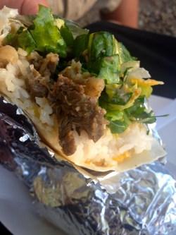The TakoBBQ burrito.  Oh yeah!
