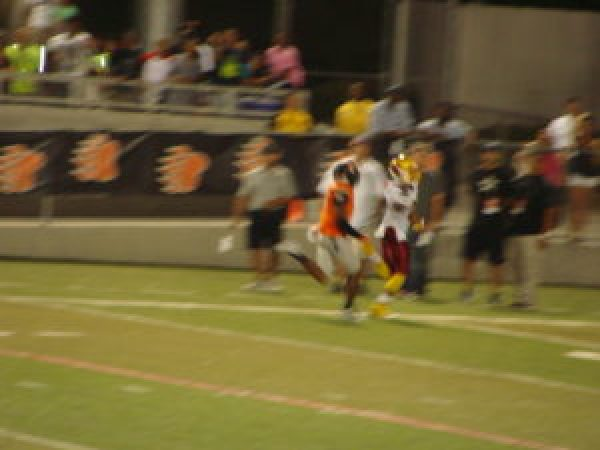 Willie Williams returning his 2nd kickoff for a touchdown