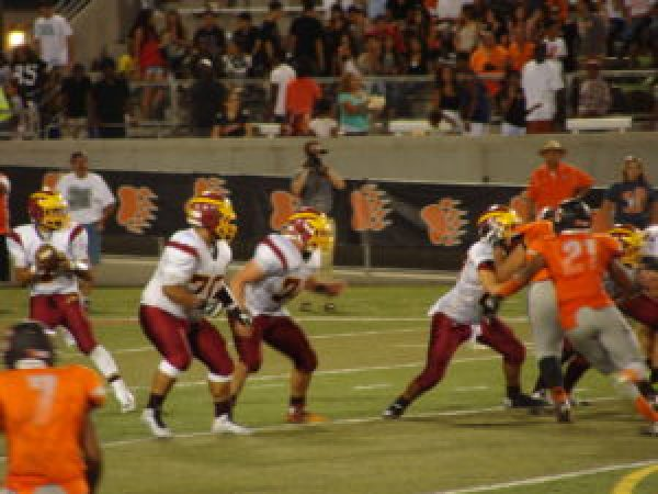 Joseph Tolentino drops back getting ready to pass during that final drive.