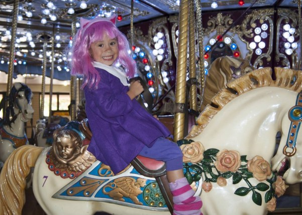 First time on a carousel at Da Ani Kami Kon at Manchester Center dressed as Annie from League of Legends