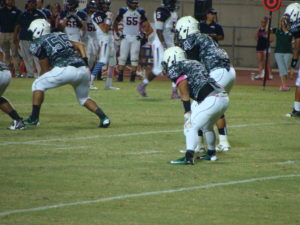 Matt Arroyo lined up next to QB Kaleo Acfalle