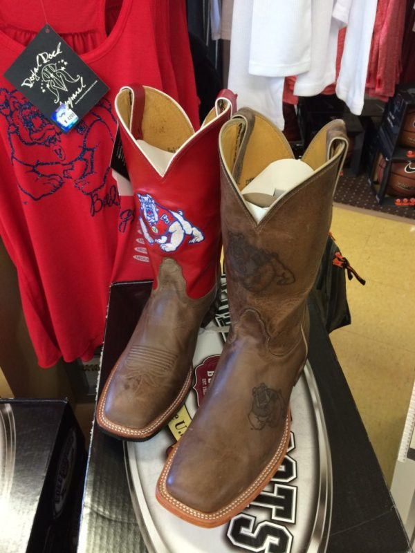 Cowboy boots at Bulldog Fan Zone