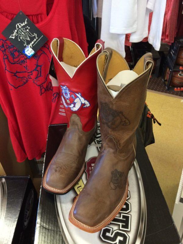 Cowboy boots at Bulldog Fan Zone