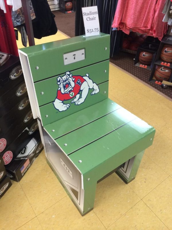 Tailgate chair at Bulldog Fan Zone
