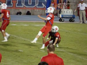 Mitch Souza kicks a 29 yard field goal