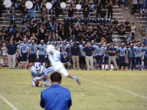 """Clutch Time""Evan Rios nailing the game winning field goal."