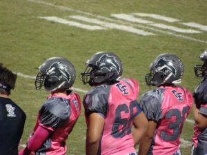 Clovis East wore special Pink uniforms to bring awareness to breast cancer