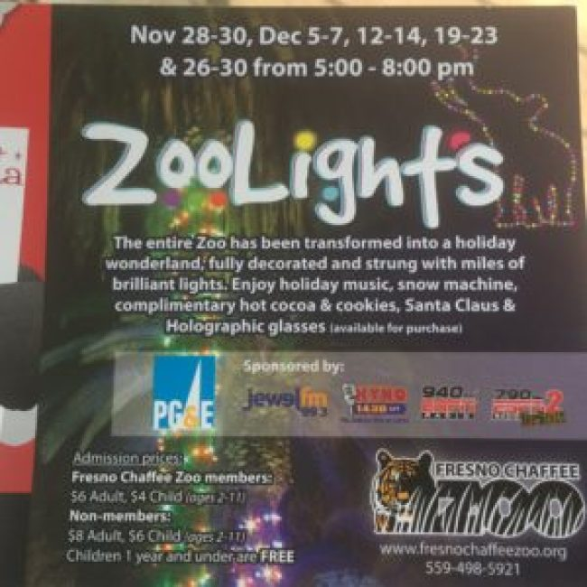 Zoo Lights Info