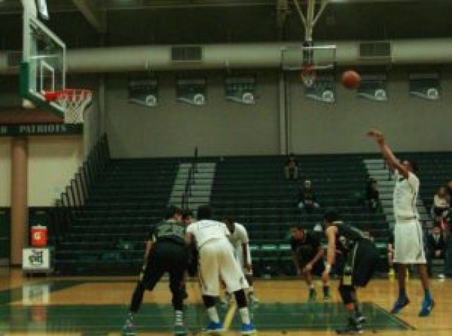 Jeron Bowers attempts a free throw against Sierra Pacific.