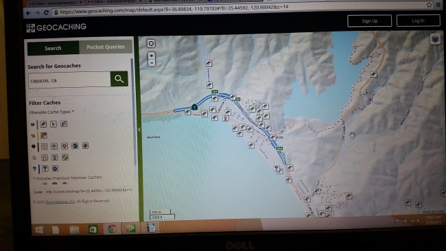 Geo Cached Map