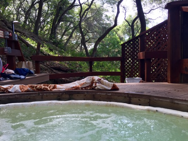 "My view from ""Xanadu"" hot spring tub"