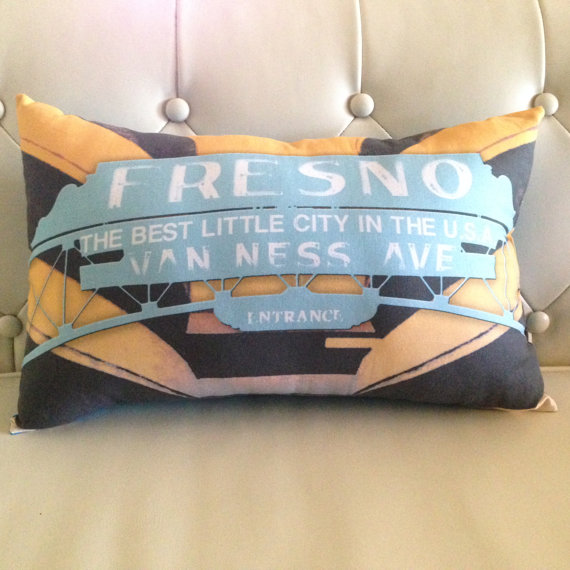 Fresno pillow Van Ness sign