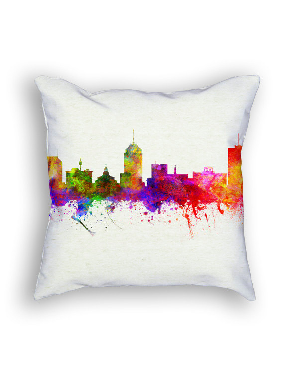 Fresno skyline pillow