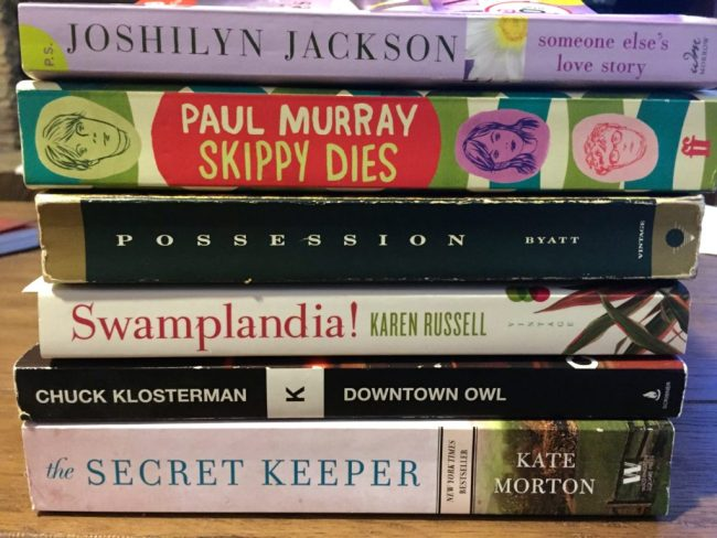 Amazing (inexpensive) finds at the Friends of the Library's used book sale. I paid less than $3 for this stack of books.